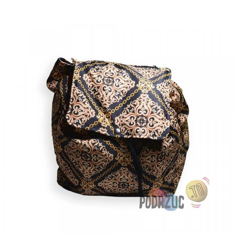 Plecak - złoto i czerń