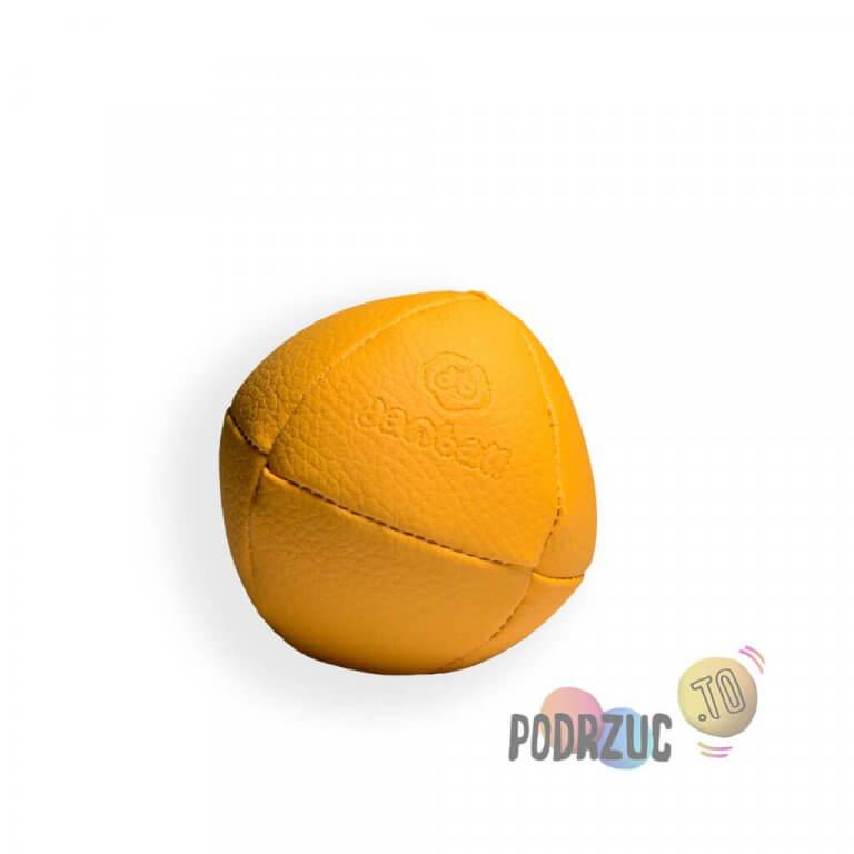 Żółta solidna piłka do żonglowania