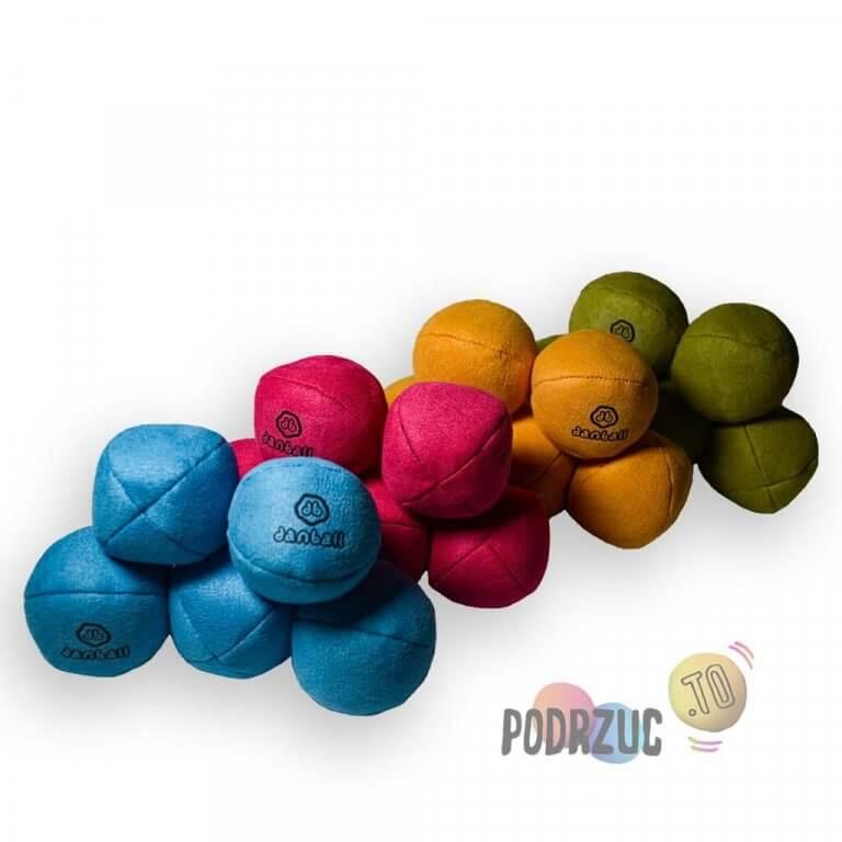 Małe piłki do żonglowania dla dzieci kolorowe danball XS Podrzuc.to