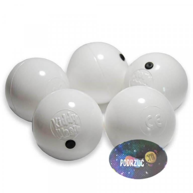 Rusałki białe 60mm Moon Dot Podrzuc.to