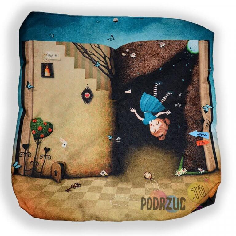 Torba na płasko Alice in wonderland